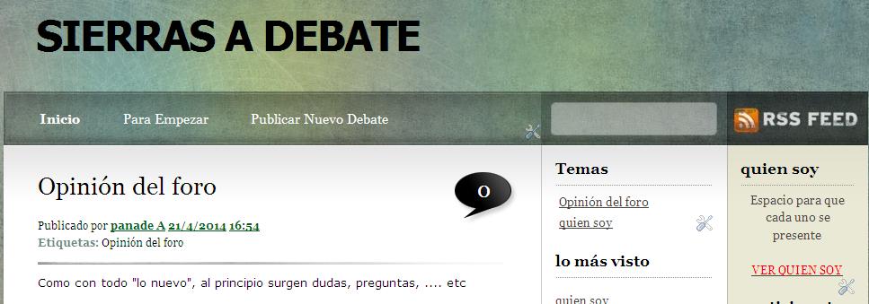 """Puesta en marcha de """"Sierras a Debate"""". Un espacio para crear y debatir ideas"""