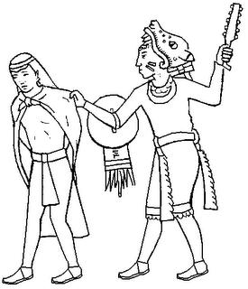 Aztecas para colorear