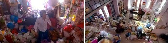 Chiaki wakes up in Nodame's messy room / Yoo Jin wakes up in Nae Il's messy room