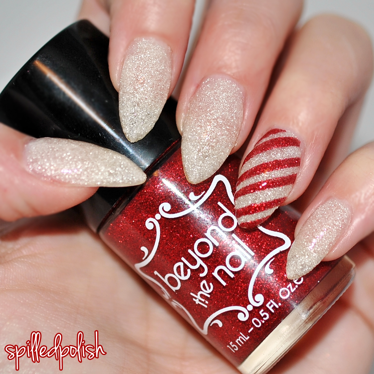 Right Ring Finger Painted Red