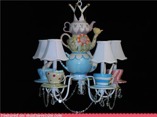 Belle Epoque Silver Chandelier Dessert Plates  Teapot