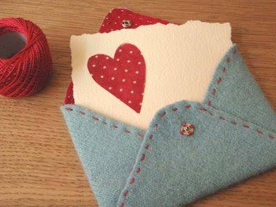 envelope de feltro com PAP (DIY) - dia dos namorados
