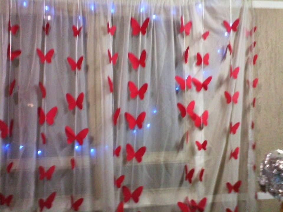 Cortina de borboletas