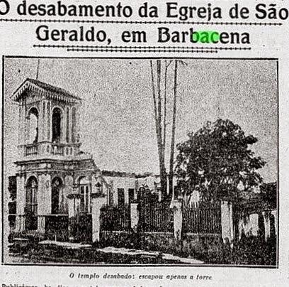 DESABAMENTO IGREJA SÃO GERALDO EM BARBACENA