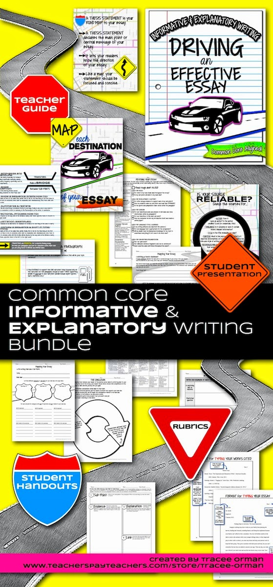 Common Core Informative and Explanatory Writing Bundle