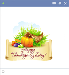 Happy Thanksgiving Day Icon for Facebook
