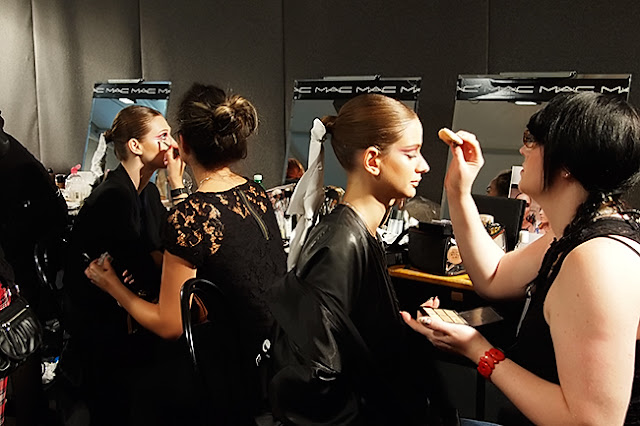 Frankie Morello Backstage - Makeup
