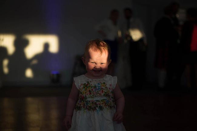 Wedding Photography Doonbeg Ireland, dancing baby