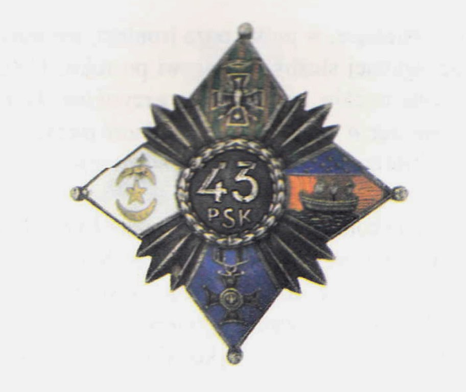 43 Pulk Piechoty Legionu Bojonczykow - Polish Military Badge - Polish Greatness Blog