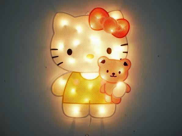 Lampu tidur lucu banget hello kitty