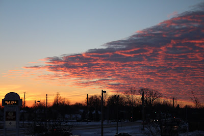 sunset january 3 in Indiana