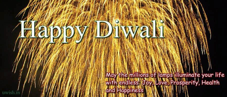 Happy Diwali e greeting cards and wishes with quote on health and prosperous life.