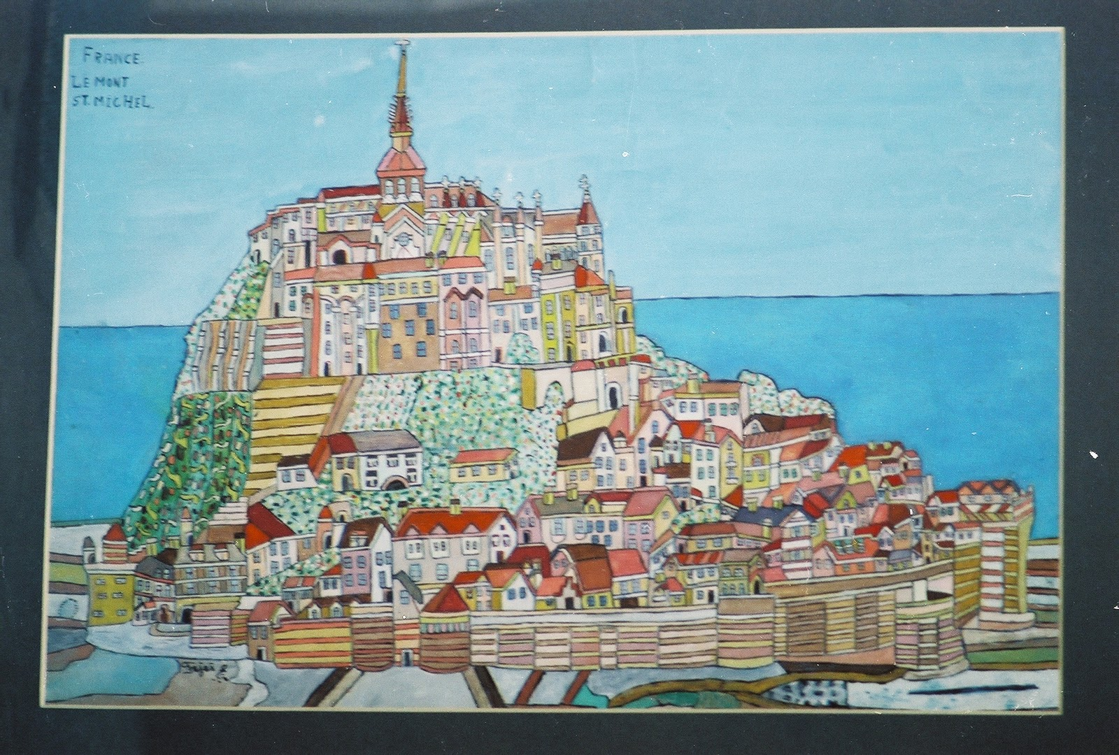 Emeric Fejes Painting of Mt Saint Michel