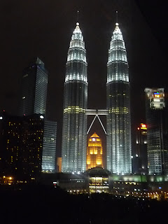 Petronas Towers at night - photo © Michael Bouy