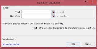 Fungsi argument untuk rumus excel RIGHT