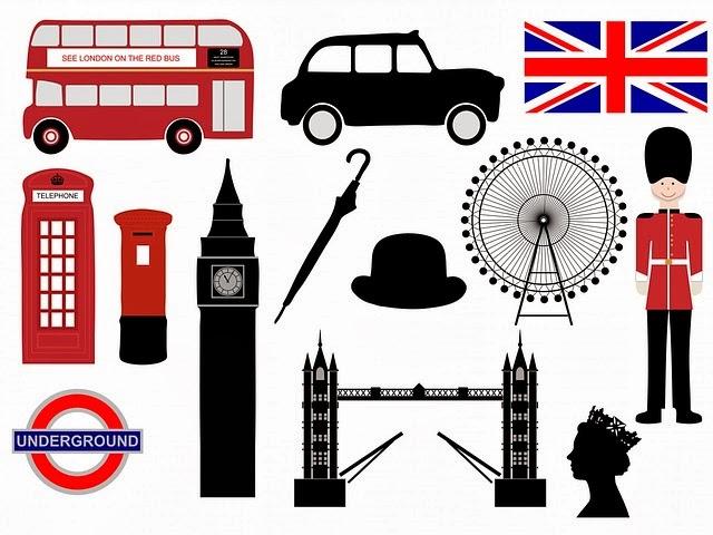 Iconos de la ciudad de Londres  Imagenes Sin Copyright
