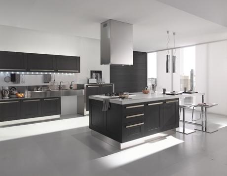 Arte y Arquitectura: Blanco y gris en la cocina