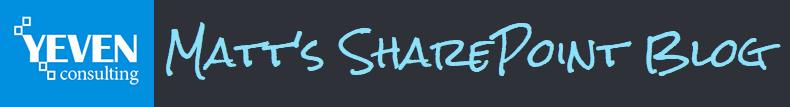 Matt's SharePoint Blog