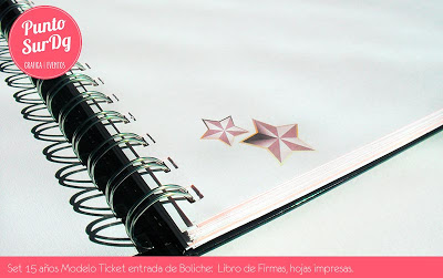 15 años libro de firmas
