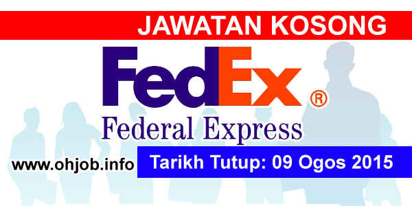 Jawatan Kerja Kosong Federal Express Services (FedEx) logo www.ohjob.info ogos 2015