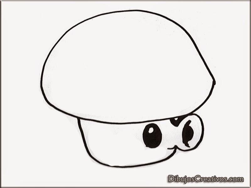 dibujos para pintar PUFF SHROOM PLANTAS VS ZOMBIES