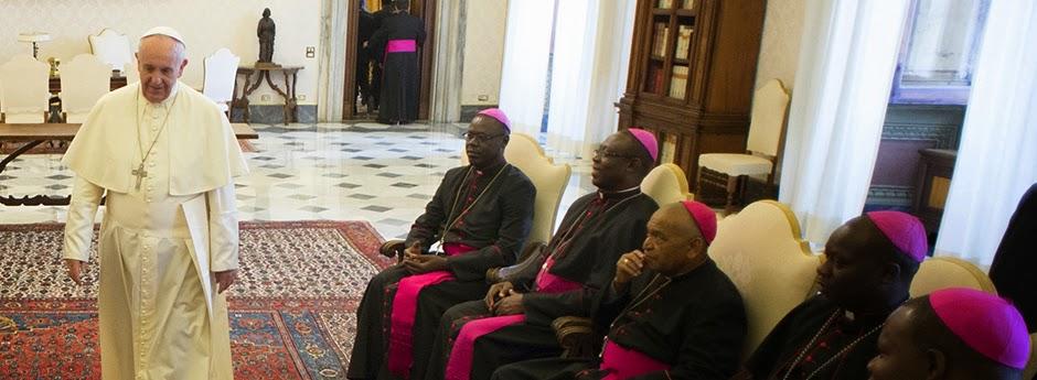 Vescovi Centrafricani durante la visita ad limina da Papa Francesco
