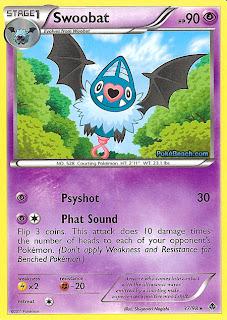 Swoobat Emerging Powers Set Pokemon Card