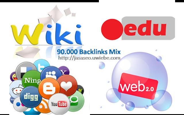 Jasa Backlink Mix Of Wiki Social Edu & Web 2.0