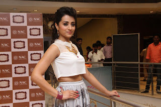 Trisha looks chick young beautiful in new hairstyle Tight Small Top at NAC Jewelers Store Launch