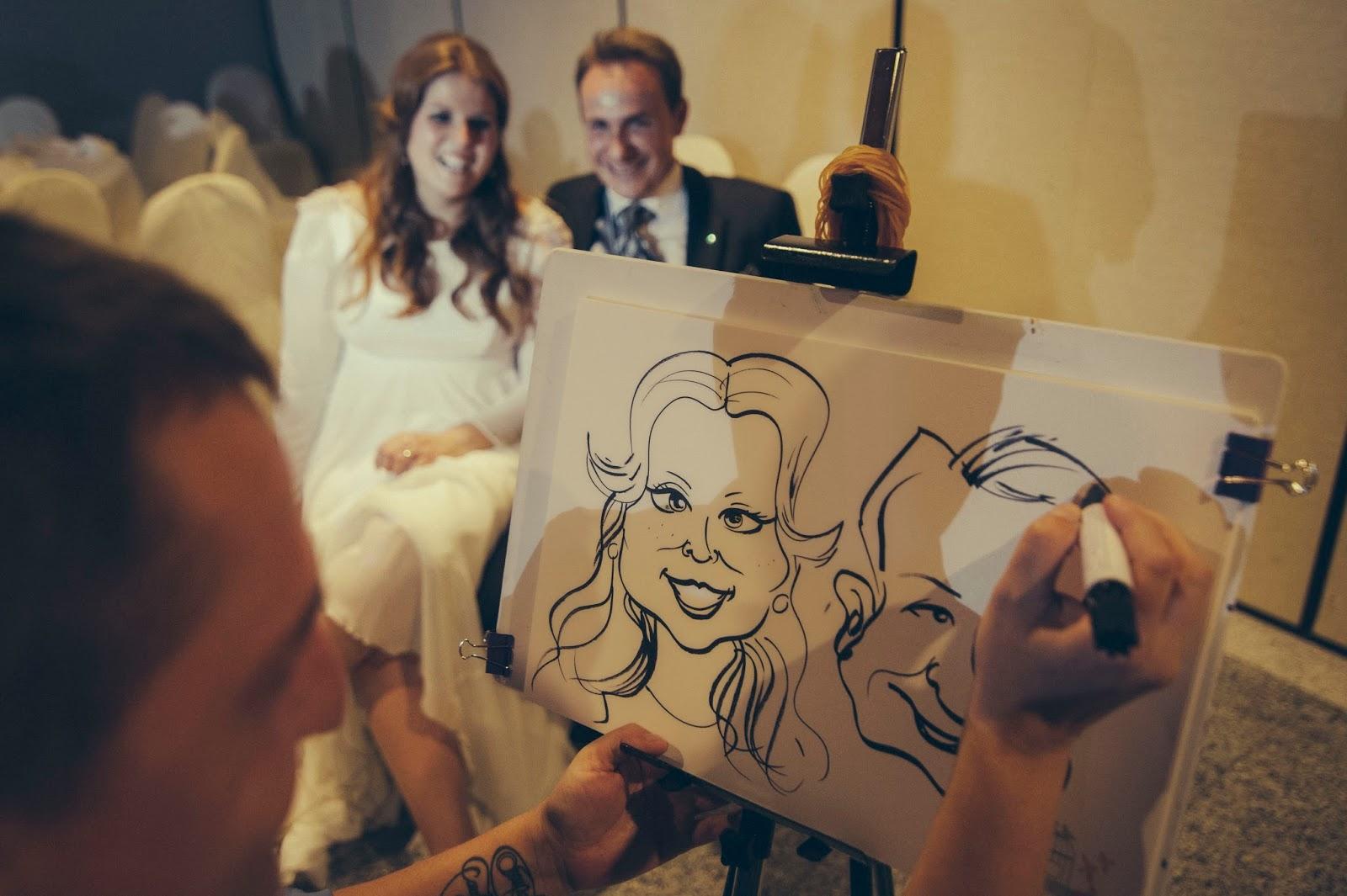 caricaturas boda