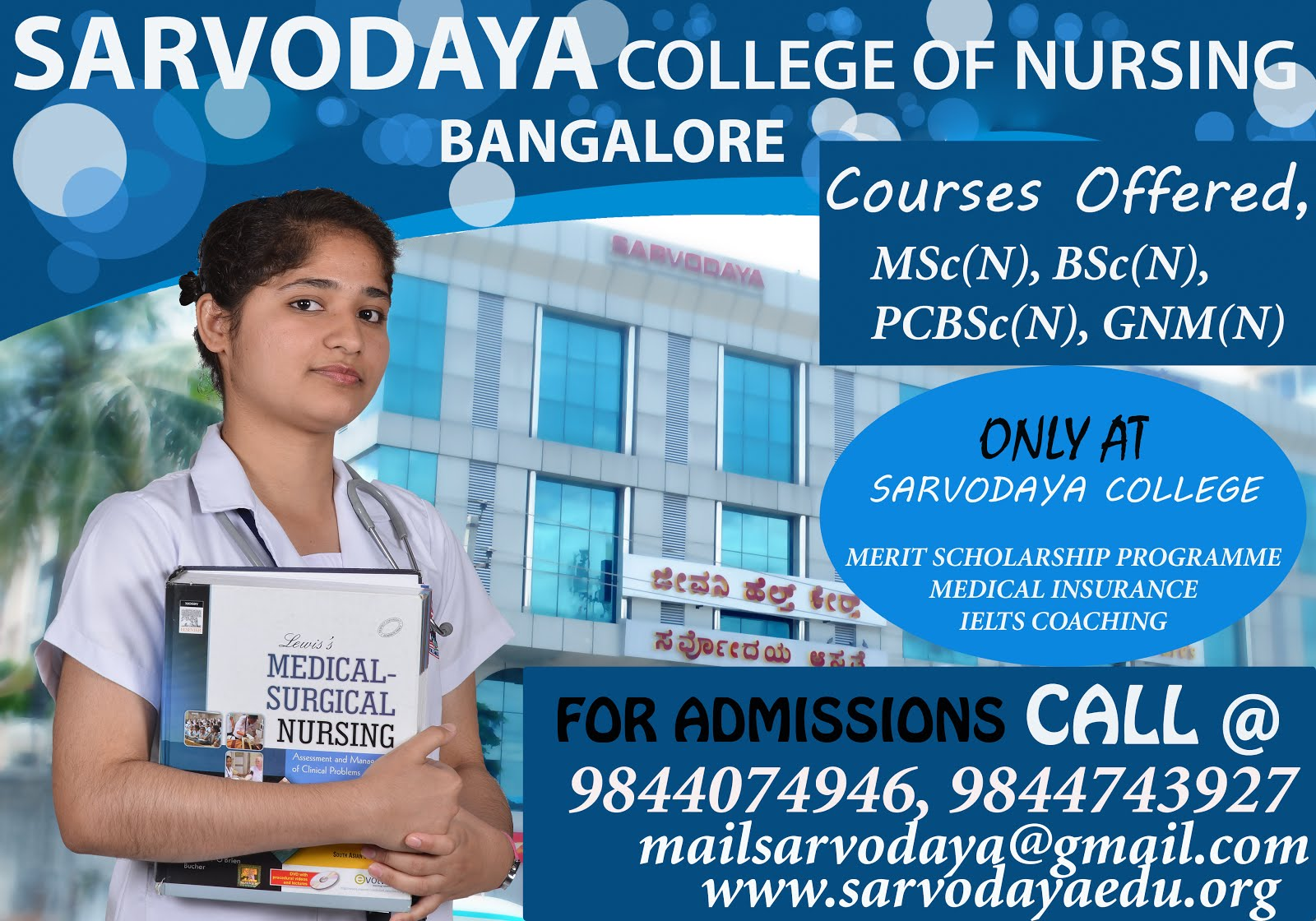 Sarvodaya College of Nursing, Leading Nursing College in Bangalore