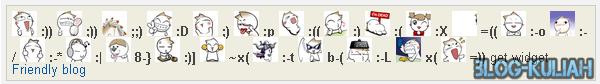 Cara Pasang Emoticon Lucu Keren komentar blog