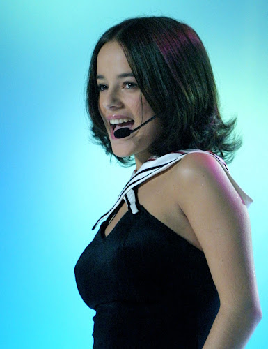 Alizee performing