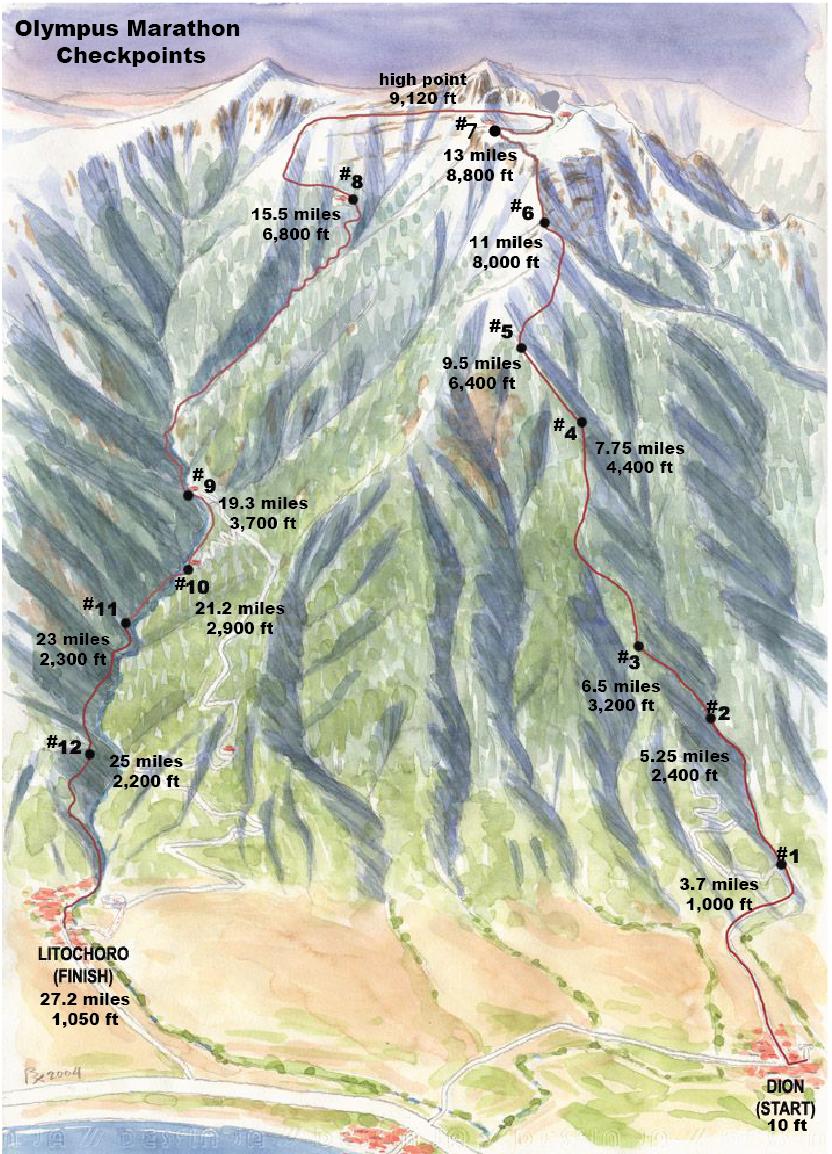 Olympus Greece Map - Olympus map
