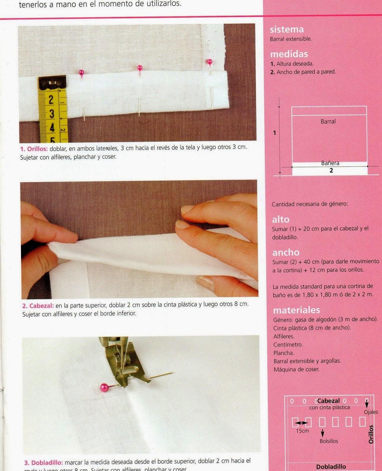 Como hacer cortinas paso a paso revistas de manualidades for Crear cocinas 3d gratis