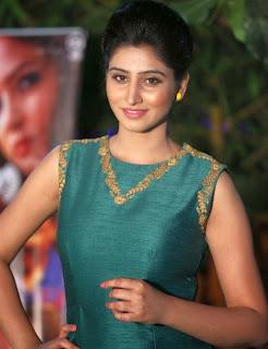 Shamili in a Green Linen Sleeveless Gown at Chandamama Kathalu 2015 award winning press meet