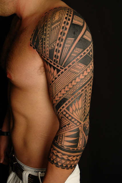 Half Sleeve Tribal Tattoo Designs for Men