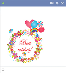 Best Wishes Facebook Sticker
