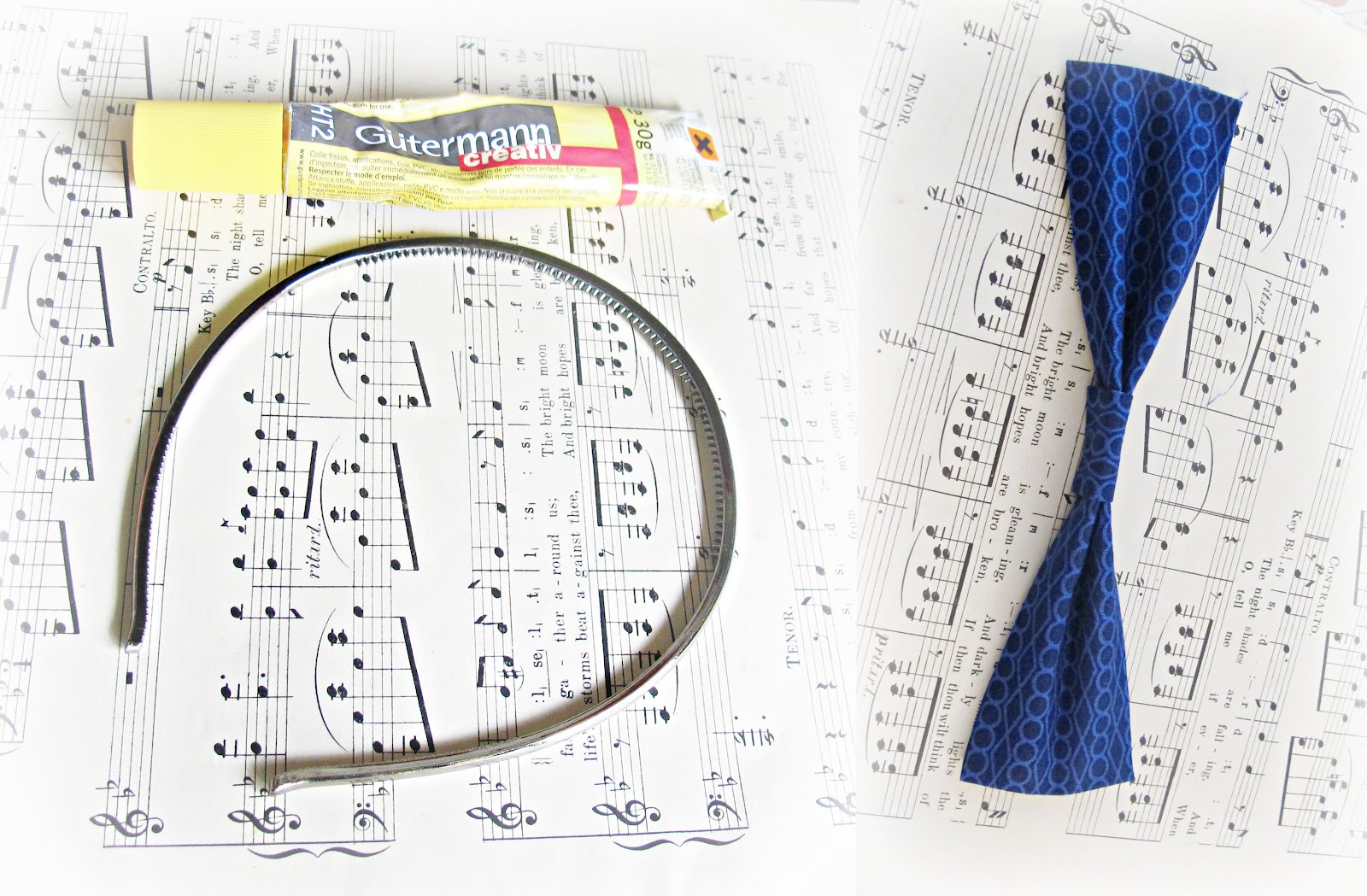 image large bow headband materials fabric glue fabric bow alice band