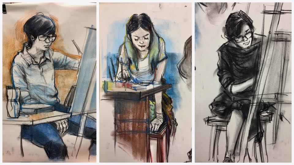 Image result for drawing class with easels