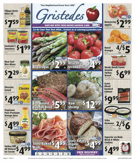 CHECK OUT ROOSEVELT ISLAND GRISTEDES Products, Sales & Specials For Feb 22 - Feb 28
