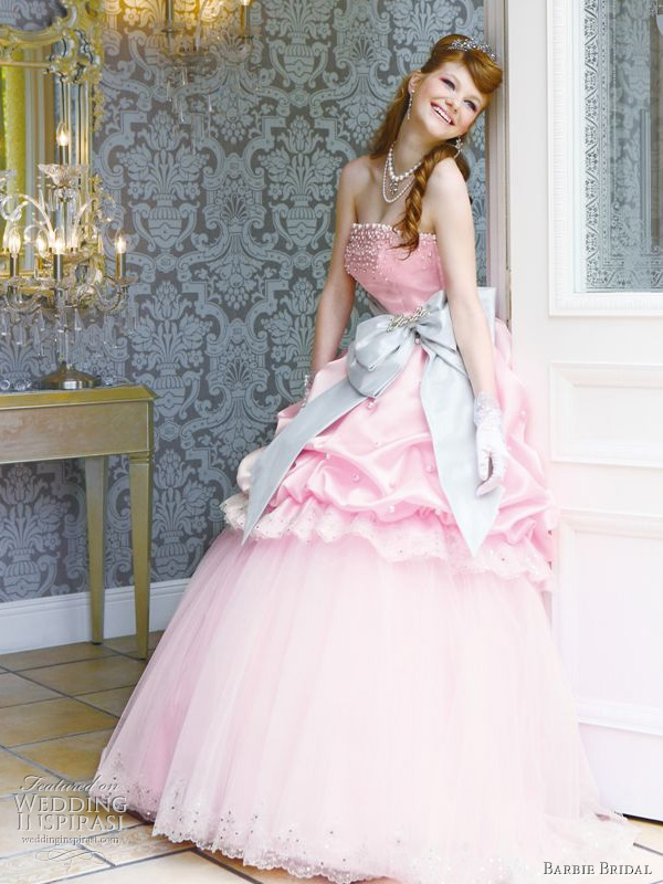 Images Of Pink Wedding Dresses : Wedding addict light pink dress in modest style