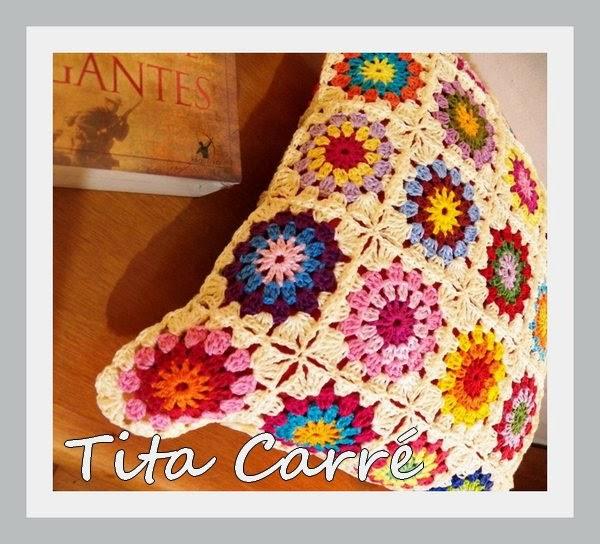 Capa de almofada em Squares Multi coloridos