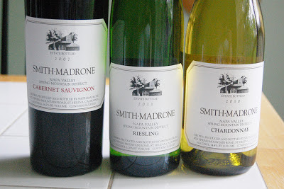 California Cabernet Sauvignon Chardonnay Riesling from Smith-Madrone