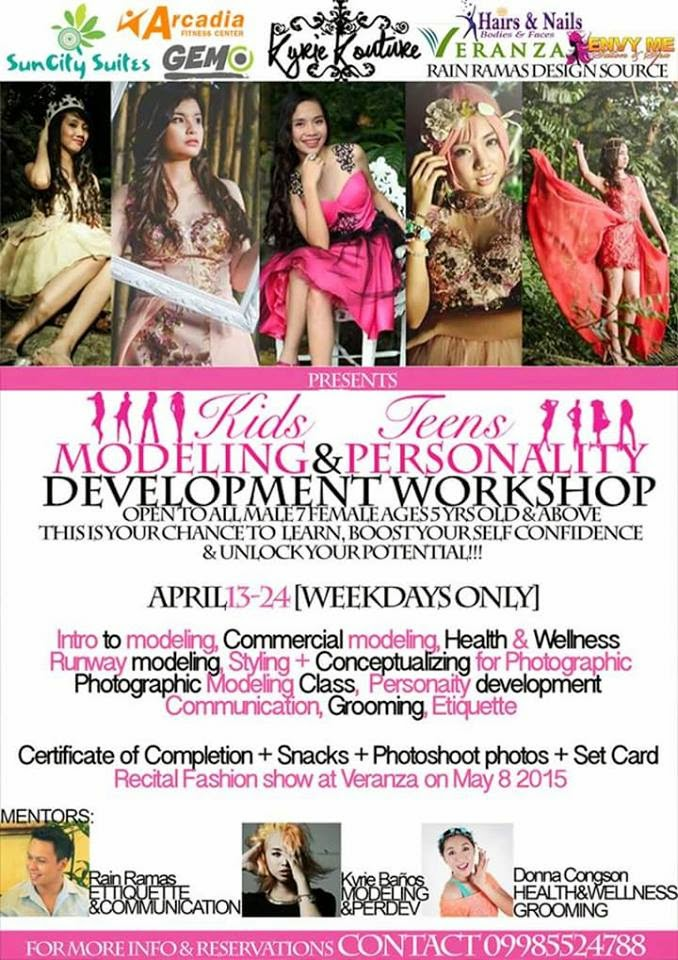Modeling & Personality Development Workshop for Kids and Teens