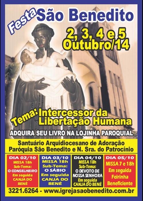 Festa de São Benedito 2014: De 2 a 5 de Outubro
