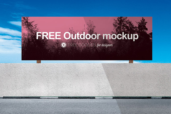 Download Poster Mockup PSD Terbaru Gratis - Free Billboard Mockup In PSD