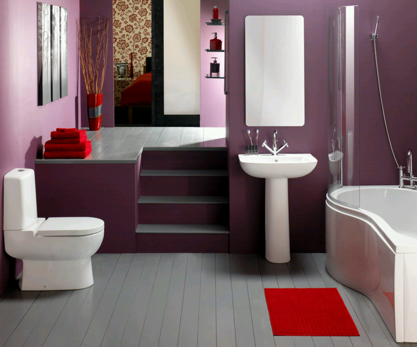 New home designs latest luxury modern bathrooms designs for Modern style bathroom designs