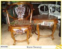 Kursi Teras Rumah & Meja Ukiran Swancy kayu jati