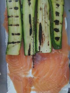 Mini sandwich con salmone e zucchine